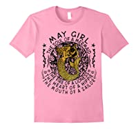 May Girl The Soul Of A Mermaid Tshirt Funny Gifts Wome T Shirt Light Pink