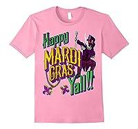 Happy Mardi Gras Yall Dabbing Voodoo King Costume Gift Shirts Light Pink