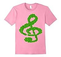 Music Note Shamrock Funny St Saint Patrick S Day T Shirt Light Pink