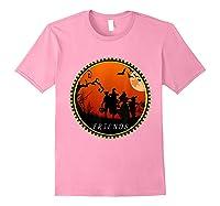 Friends Horror Scary Halloween T Shirt For Light Pink
