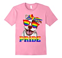 Pit Bull Pride- Gay Pride Shirt 2018 T-shirt For Light Pink