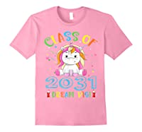Class Of 2031 Grow With Me Unicorn Back To School Shirts Light Pink