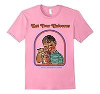 Eat Your Unicorn Meat T-shirt Light Pink