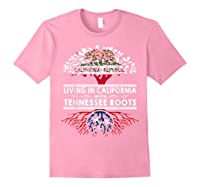 Living In California Home Tennessee Roots State Tree Shirts Light Pink
