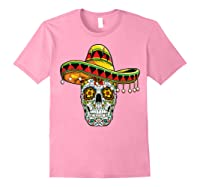 Day Of The Dead Sugar Skull Funny Cinco De Mayo T Shirt Light Pink