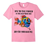 Joy To Fishes In Deep Blue Sea Hippie Shirts Light Pink