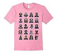 Friends Cartoon Halloween Character Scary Horror Movies T Shirt Light Pink