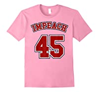 Anti Trump Red And Blue Retro Sports Style Impeach 45 T Shirt Light Pink