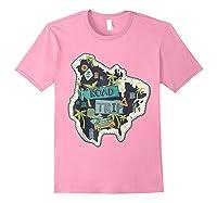 Road Trip 2019 Family Summer Vacation Hippie Van Surf Gift Zip Shirts Light Pink