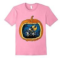 Funny Pumpkin Vintage Halloween Pumpkin Costume Shirts Light Pink