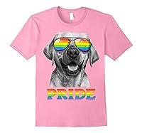 Labrador Gay Pride Lgbt Rainbow Flag Sunglasses Funny Lgbtq Shirts Light Pink