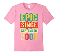 Epic Since September 2008 T-shirt- 11 Years Old Shirt Gift Light Pink