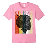 African American Queen T Shirt Black History Urban Soul Tees Light Pink