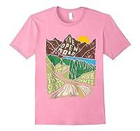 Road Trip 2019 Adventure Awaits Family Summer Vacation Gift Shirts Light Pink
