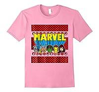 Avengers Classic Ugly Christmas Sweater Shirts Light Pink