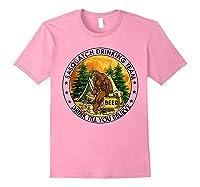 Sasquatch Drinking Team Drink Till You Believe Tshirt Light Pink
