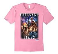 Marvel Avengers Endgame Movie Poster Whatever It Takes T-shirt Light Pink