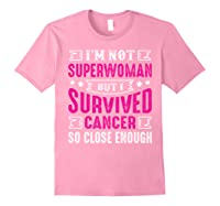 Survived Breast Cancer Awareness Month Pink Ribbon T Shirts Light Pink