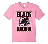 Black Widow Ugly Christmas Sweater Shirts Light Pink