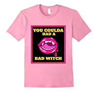 Lips You Coulda Had A Bad Witch Funny Halloween Gift T-shirt Light Pink
