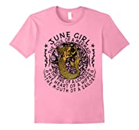 June Girl The Soul Of A Mermaid Tshirt Funny Gifts Light Pink