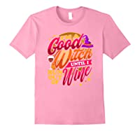 Good Witch Wine Funny Halloween Drinking Trick Or Treat Shirts Light Pink