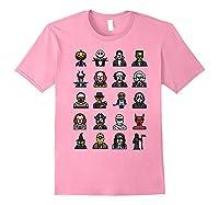 Friends Cartoon Halloween Character Scary Horror Movies Shirts Light Pink