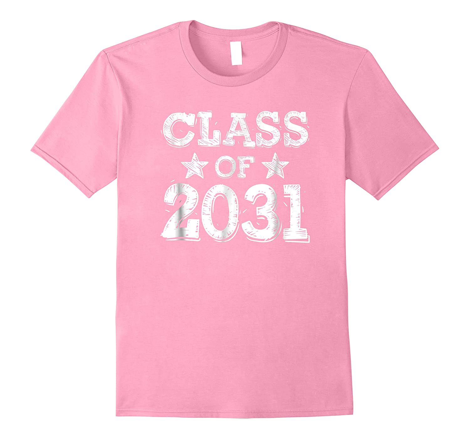 Class Of 2031 Grow With Me Pink Shirts