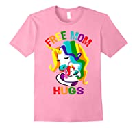Free Mom Hugs Lgbt Gay Pride T-shirt Light Pink