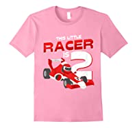 Race Car 2nd Birthday I This Little Racer Is 2 Years Old Shirts Light Pink