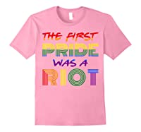 The First Pride Was A Riot Gay Lgbt Rights Shirts Light Pink