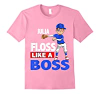 Baseball Shirt Custom Name Julia Birthday Light Pink