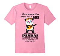 Once Upon A Time There Was A Girl Pandas And Tattoos Shirt Light Pink
