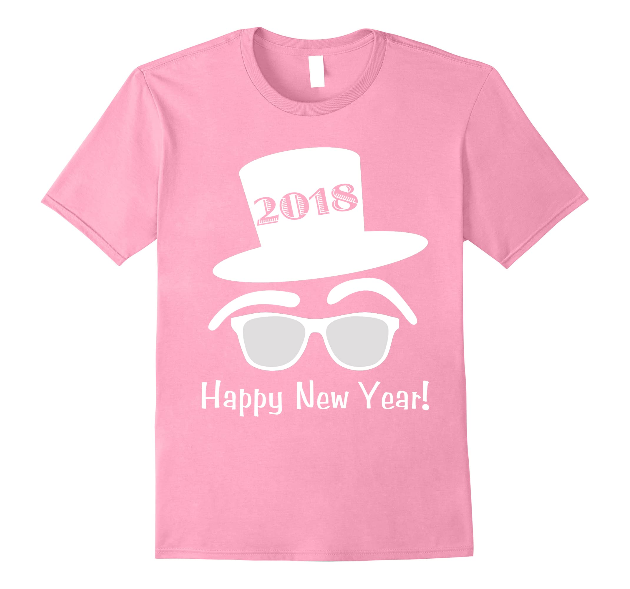 4185d11e49 2018 Hipster Top Hat Sunglasses Happy New Years Eve T-shirt-RT ...