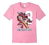 Mulan 3rd Birthday Boy Mushu Portrait Shirts Light Pink