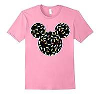 Disney Mickey Christmas Lights T Shirt Light Pink