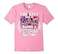Veteran Father's Day Gift Best Dad Raises A Veteran Shirts Light Pink