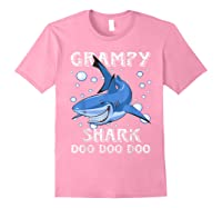 Grampy Shark Shirt Fathers Day Gift T-shirt Light Pink