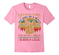 Gemini Girl The Soul Of A Witch Mouth Of A Sailor Shirts Light Pink
