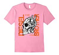 Diesel Power Truck Turbo Brothers Mechanic Shirts Light Pink