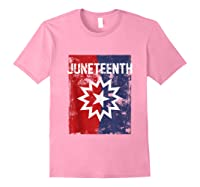 Junenth Black American African History Freedom Day Shirts Light Pink