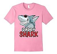 Dabbing Daddy Shark Fathers Day Gift Matching Shirts Light Pink