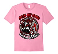 Knights Templar Tshirt Son Of God Warrior Of Christ Light Pink