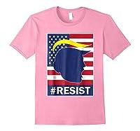 Resist Protest Rebel Political Anti Trump Impeach T Shirt Light Pink