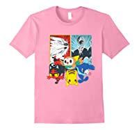 Alola Starters With Legendaries Shirts Light Pink