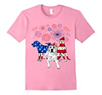 Labrador 4th Of July America Flag Gifts Shirts Light Pink