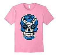 Scottish Flag Sugar Skull Shirts Light Pink