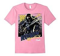 Avengers Endgame Ronin Sunset Graphic Shirts Light Pink