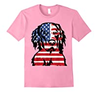 Funny Hovawart American Flag 4th Of July Shirts Light Pink