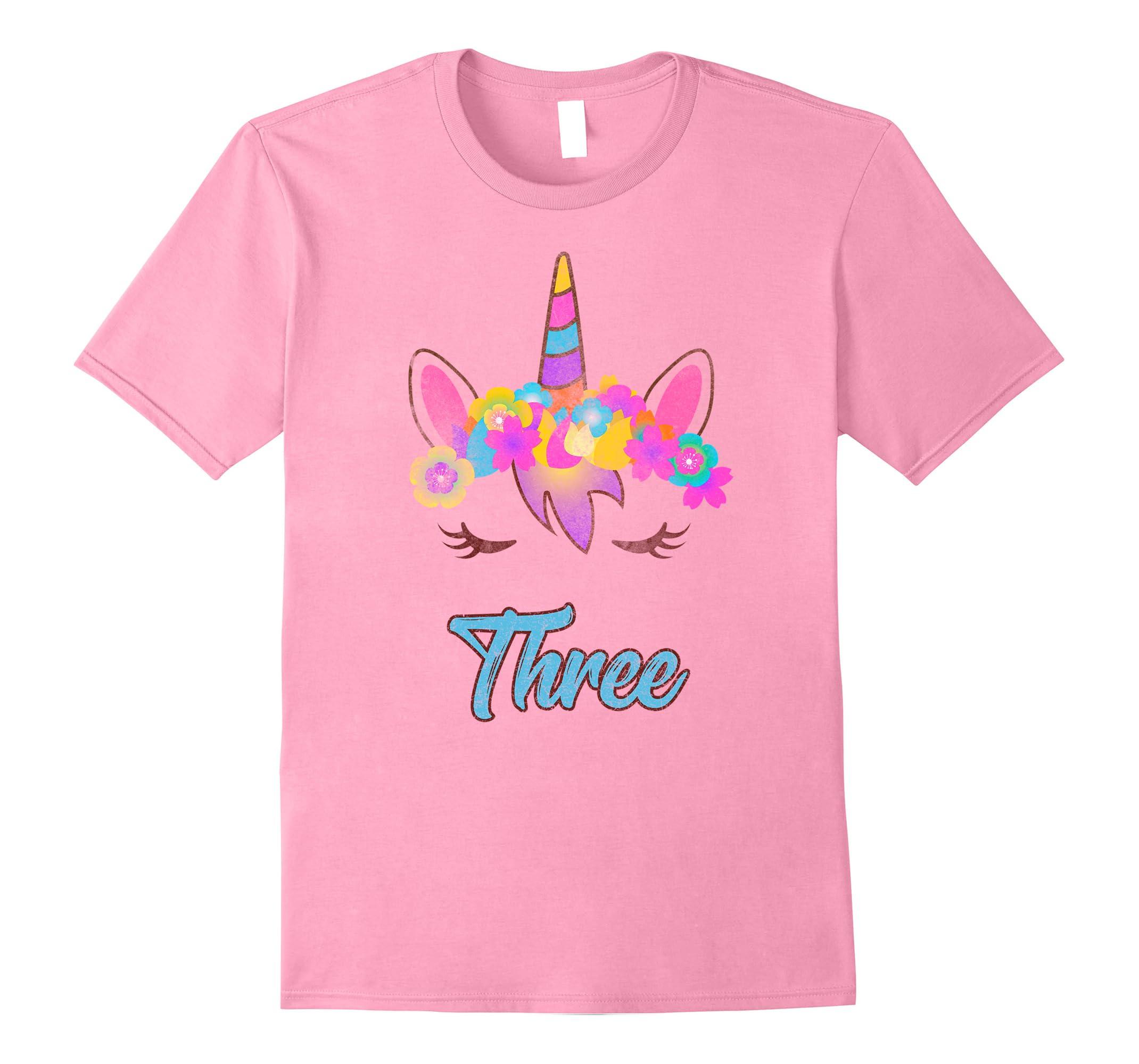 Whimsical 3rd Birthday Unicorn Shirt Ah My One Gift